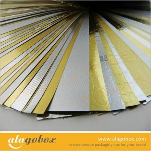 metallic paper for facial mask packaging