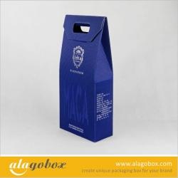 corrugated paper box for wine
