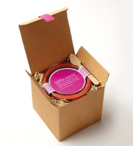 colorful corrugated paper skin care packaging