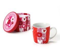 heart shape pattern mug box