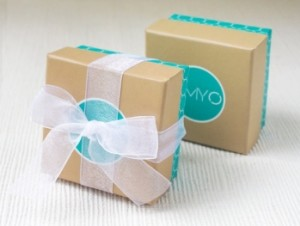 earring jewelry box with ribbon