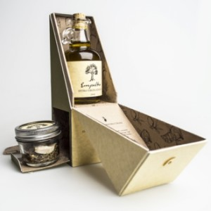 olive oil packaging with drawer