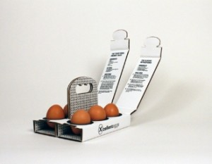 6 eggs box with handle
