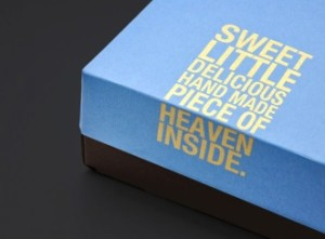 cookie box with hot stamping