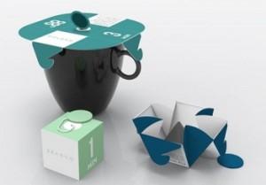 individual tea bag with display white box