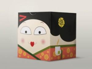 Japanese people tea boxes