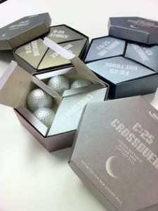 hex shape golf ball packaging