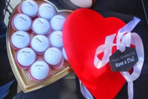 heart shape golf ball gift box