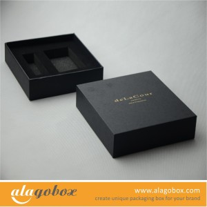 black box with foam