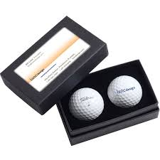 custom golf ball box with business card