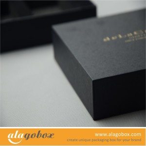 gift box with golden logo