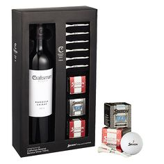 golf and wine gift set box