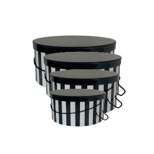 hat boxes with rope