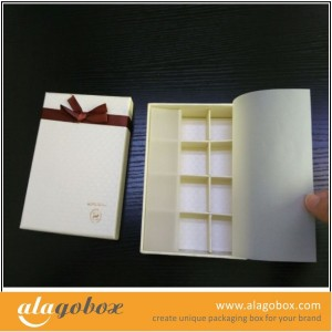 hotel truffles gift box with butter paper
