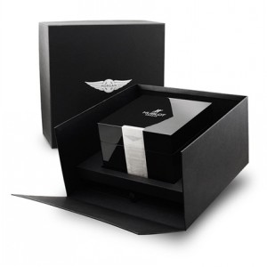 watch paper box with inner wooden box