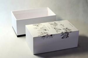 reed diffuser rigid box with embossed line
