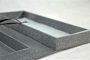 premium art paper rigid box as book style