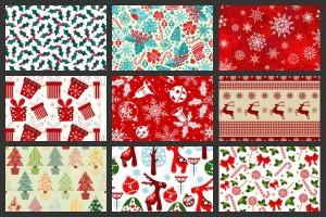 Christmas gift box pattern