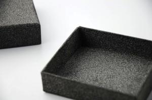 black shinning paper box