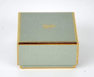 jewellery packaging box with golden lines