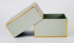 jewelry box with golden lines