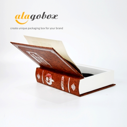 book look box with metallic letter