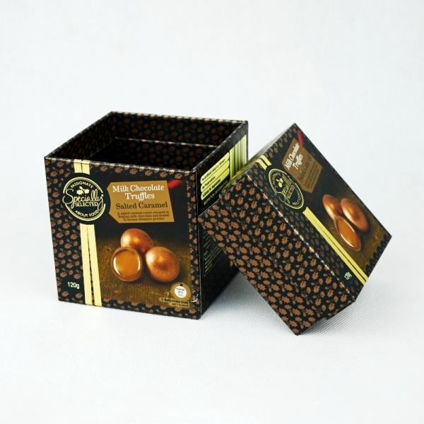 milk chocolate truffle rigid box