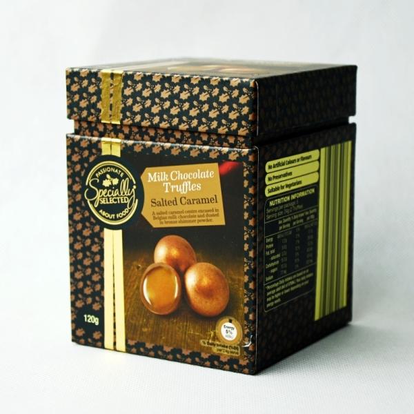 milk chocolate truffles box