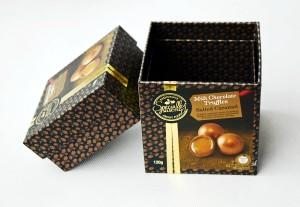 retail box for milk chocolate truffles