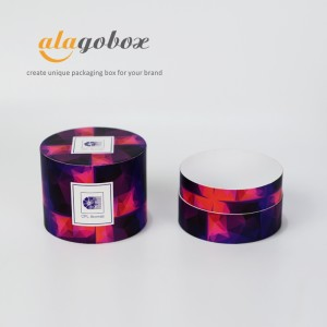 flat round fine fragrance packaging boxes