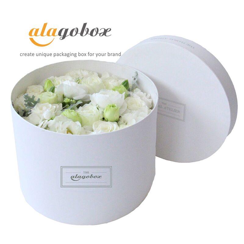 round floral arrangement packaging