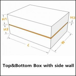 top&bottom box with side wall